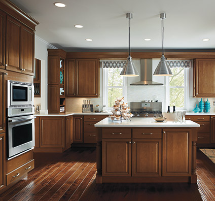 Ogilby kitchen cabinets in Maple Terrain finish