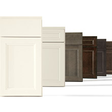Bexley cabinet doors in a variety of finishes