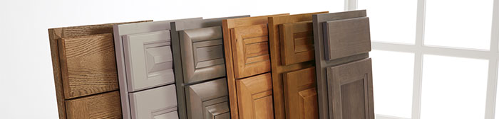 Variety of cabinet doors fanned out