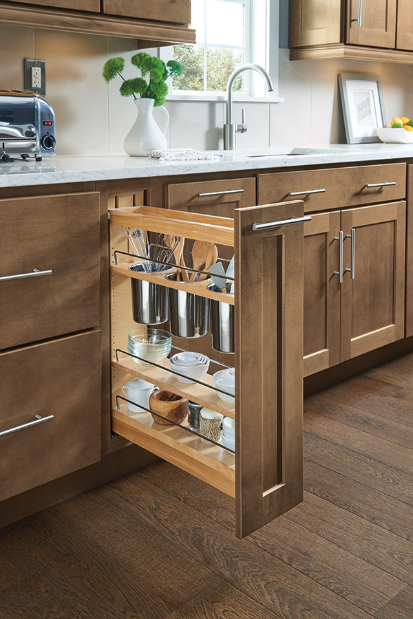 Base Pantry Pullout Cabinet Homecrest Cabinetry