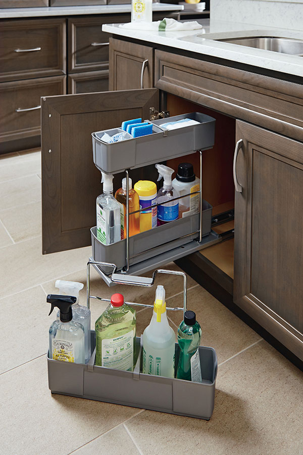 Sink Base Cleaning Caddy Homecrest Cabinetry