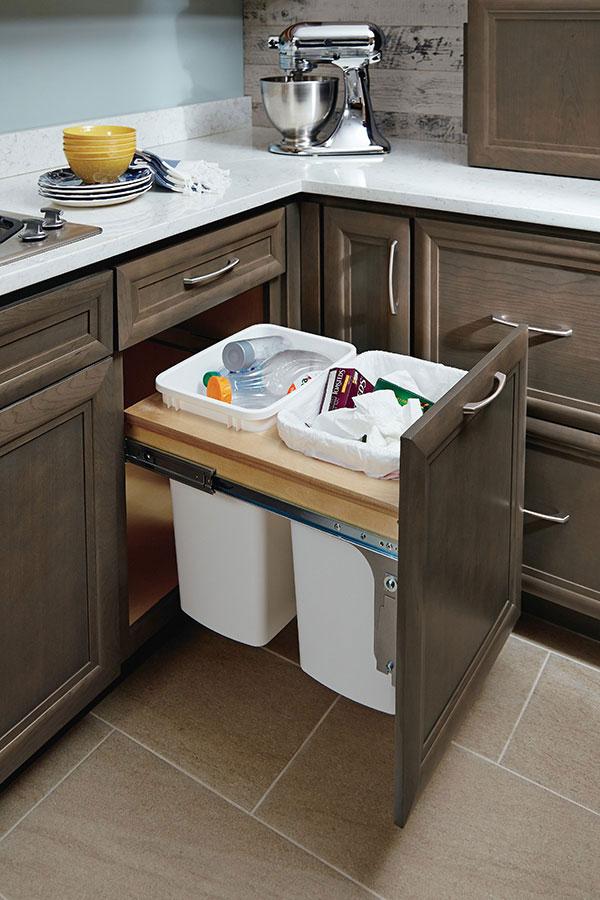 21 inch base wastebasket cabinet homecrest for Kitchen cabinets ireland