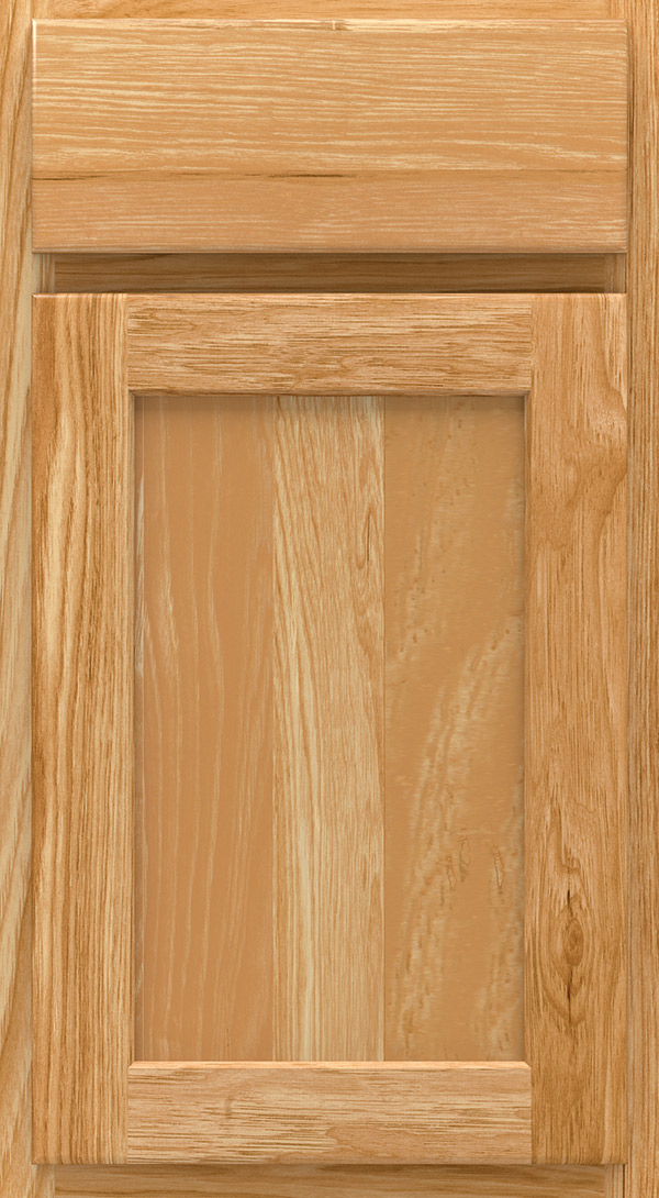 arbor_hickory_shaker_style_cabinet_door_natural Arbor; bayport_hickory_beadboard_cabinet_door_natural & Natural Cabinet Finish on Hickory - Homecrest