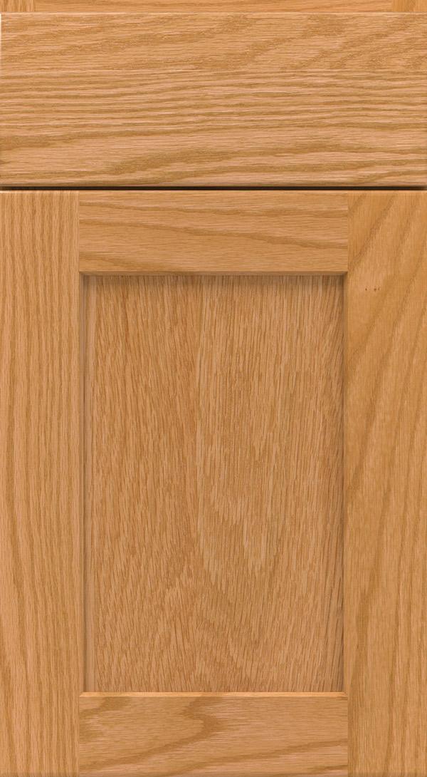 Brenner; Dover_oak_shaker_cabinet_door_honey Dover;  Eastport_5_piece_oak_recessed_panel_cabinet_door_honey