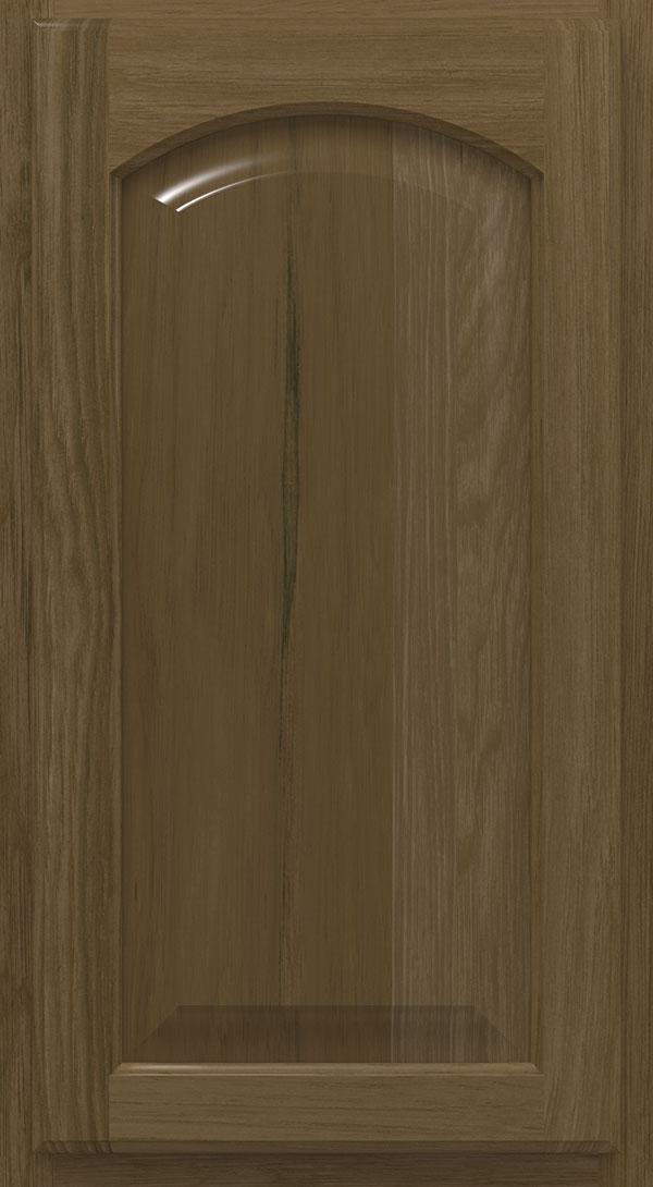 Heartland; heritage_arch_hickory_raised_panel_cabinet_door_karoo Heritage; hershing_hickory_recessed_panel_cabinet_door_karoo_husk & Karoo Cabinet Finish on Hickory - Homecrest