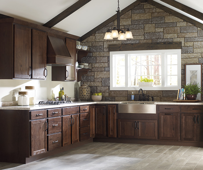 Rustic Kitchen Cabinets By Homecrest Cabinetry ...