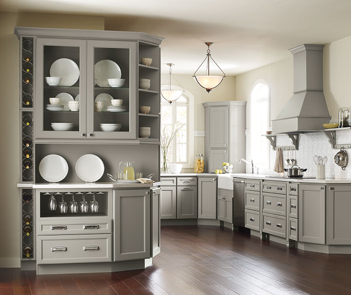 Gray Kitchen Cabinets - Homecrest Cabinetry