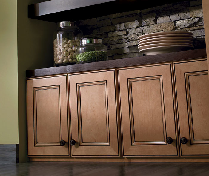 ... Light Maple Cabinets With Glaze By Homecrest Cabinetry ...