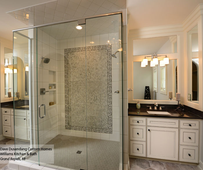 White Bathroom Vanities With Glazing Homecrest Cabinetry - Bathroom glazing