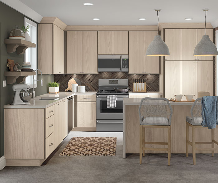 Contemporary Textured Laminate Kitchen Cabinets Homecrest