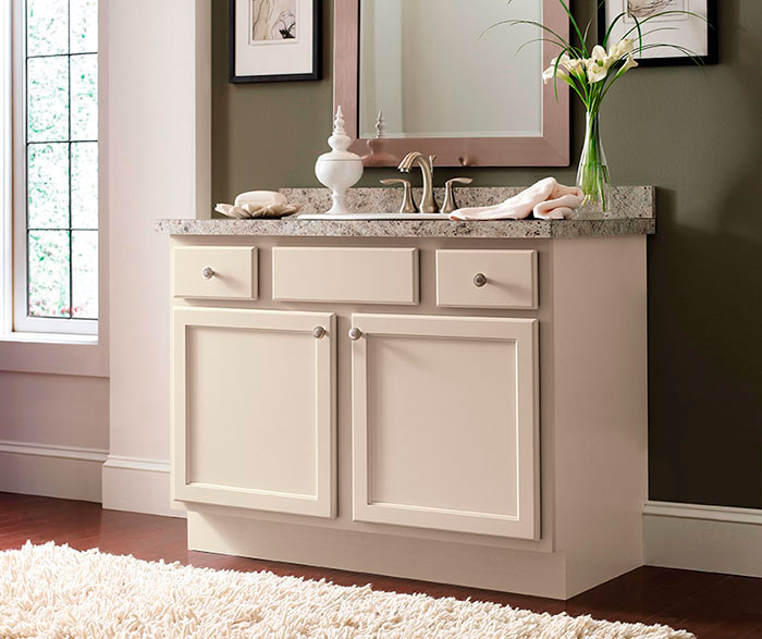 Shaker Style Bathroom Vanity By Homecrest Cabinetry ...