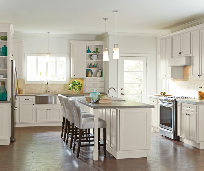 White Cabinets In Casual Kitchen Homecrest