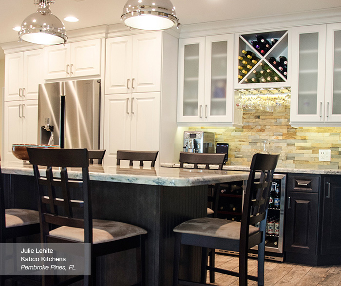 Off White Cabinets With Kitchen Island Homecrest