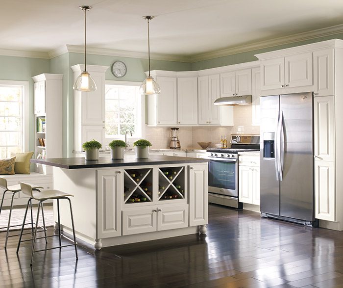 Off white painted kitchen cabinets homecrest Kitchen design off white cabinets