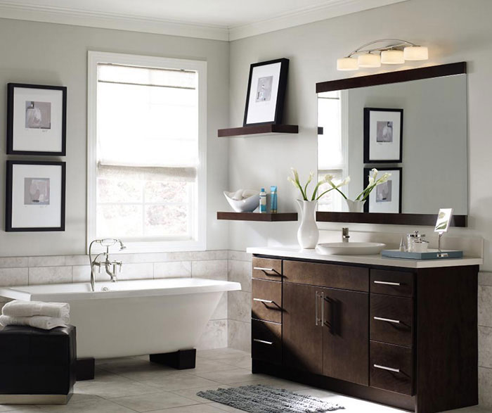 Contemporary Bathroom Vanity Homecrest Cabinetry - Contemporary bathroom furniture cabinets