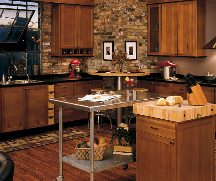 Hickory kitchen cabinets by Homecrest Cabinetry