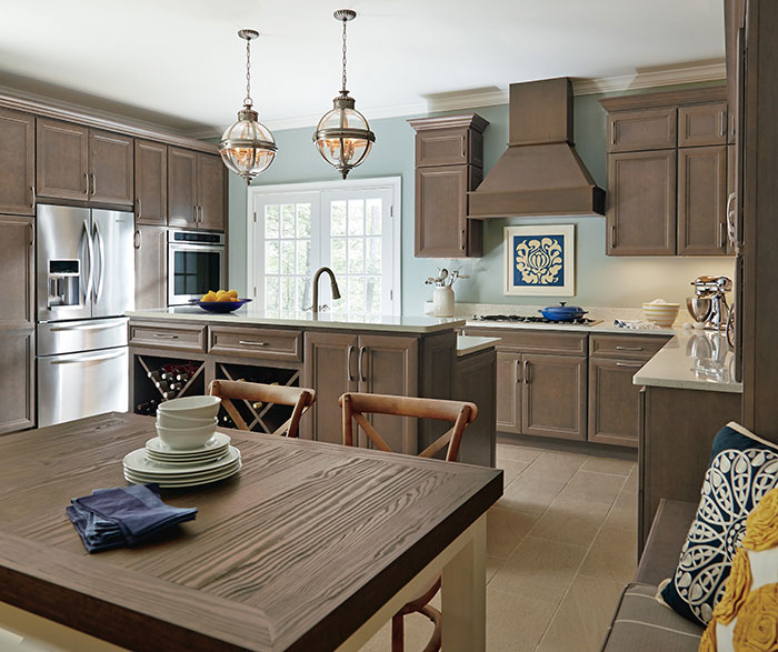 Bon ... Gray Cabinets In A Casual Kitchen By Homecrest Cabinetry ...