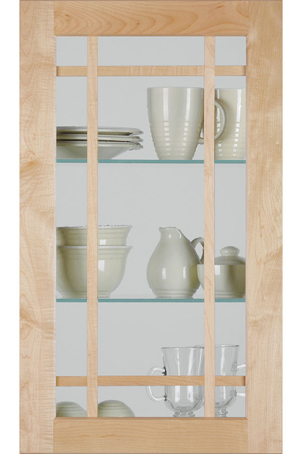Shaker Mullion Cabinet Door With Frost Glass Homecrest