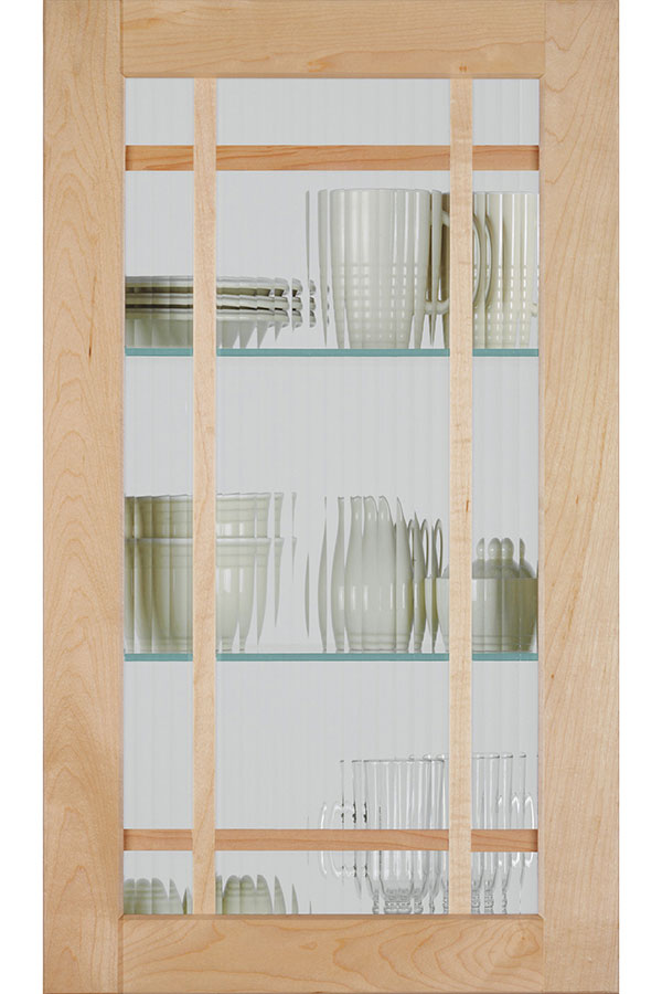 Shaker Mullion Door With Reeded Glass Homecrest