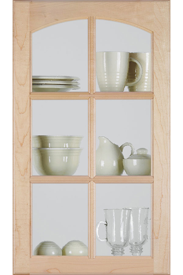 Arch Mullion Cabinet Door With Clear Insert Homecrest