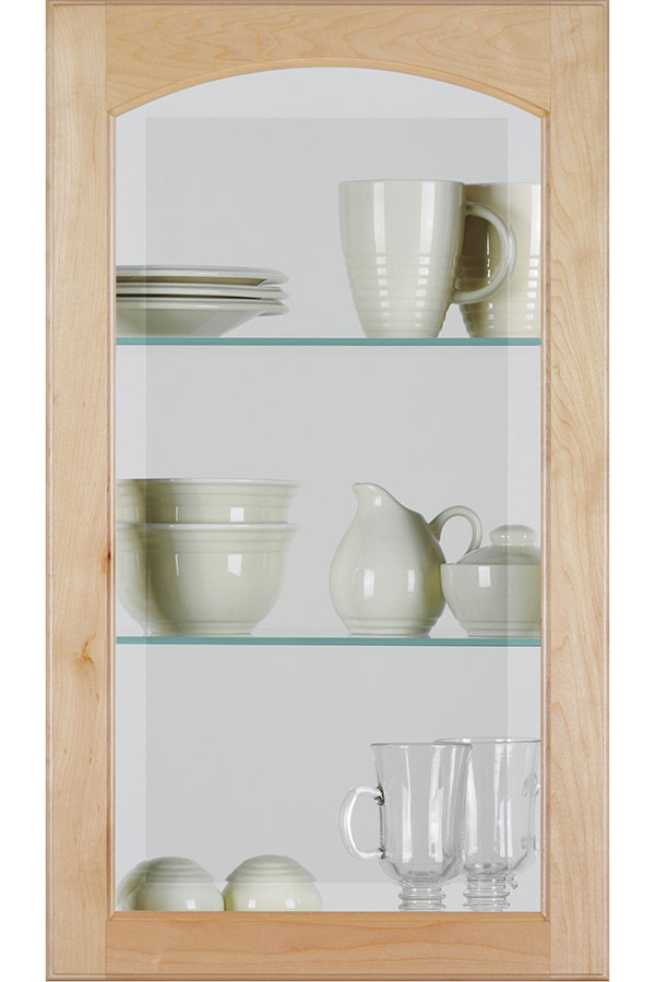Arch Glass Cabinet Door With Beveled Insert Homecrest