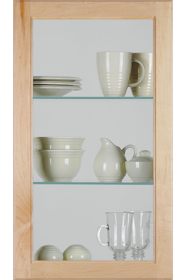 Square Glass Door With Clear Insert Homecrest