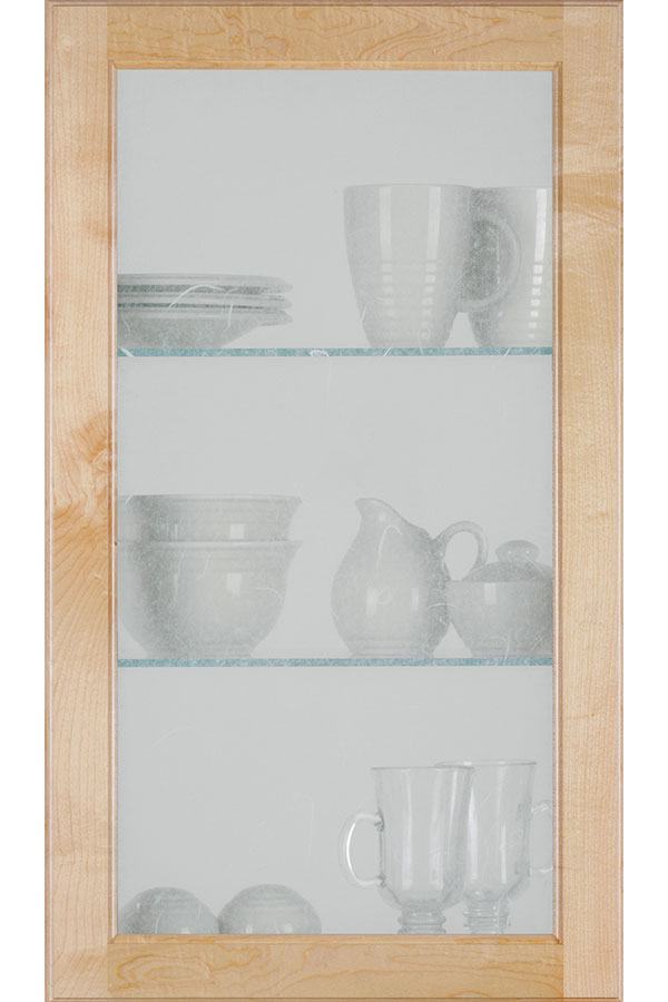 Square Glass Door With Rice Paper Insert Homecrest