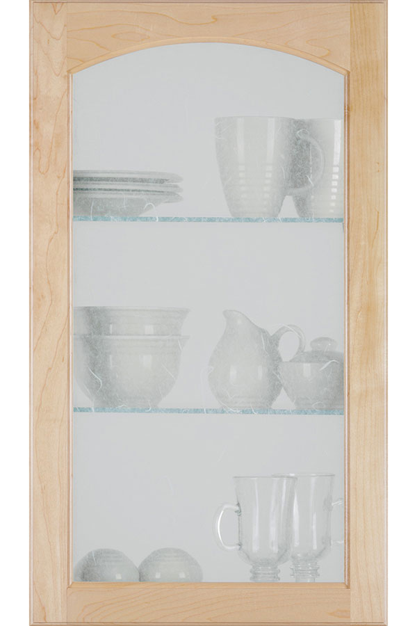 Arch Glass Cabinet Door With Seeded Insert Homecrest