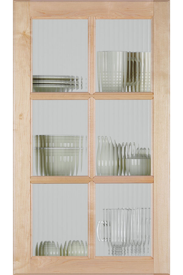 Square Mullion Door With Reeded Glass Homecrest