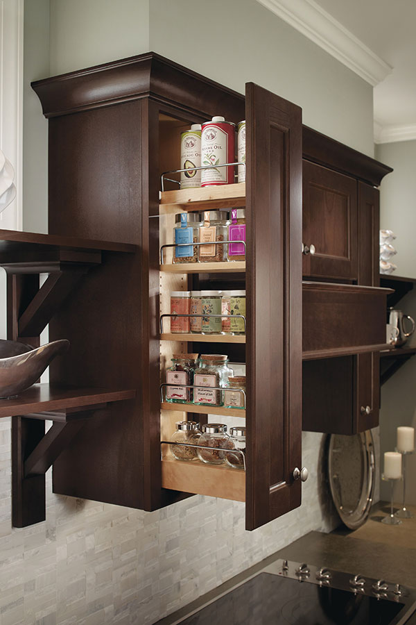 Wall Spice Pull Out Cabinet - Homecrest Cabinetry