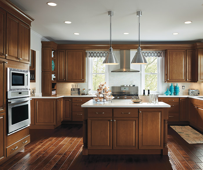 Kitchen with Maple Ogilby cabinets in Terrain finish