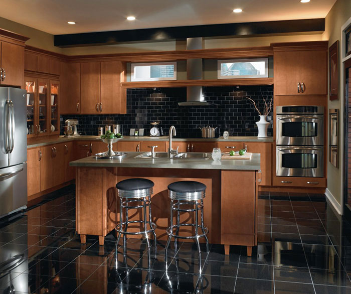 Contemporary Maple kitchen cabinets by Homecrest Cabinetry